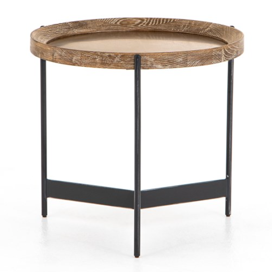 Wood and Metal Tray Table