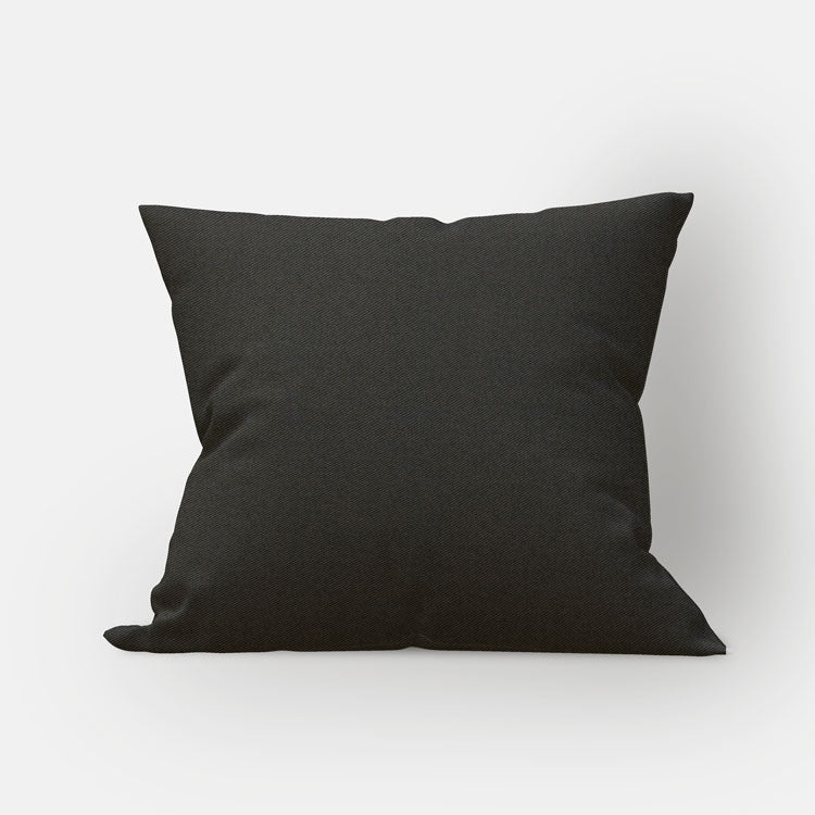 Black Twill Pillow Cover