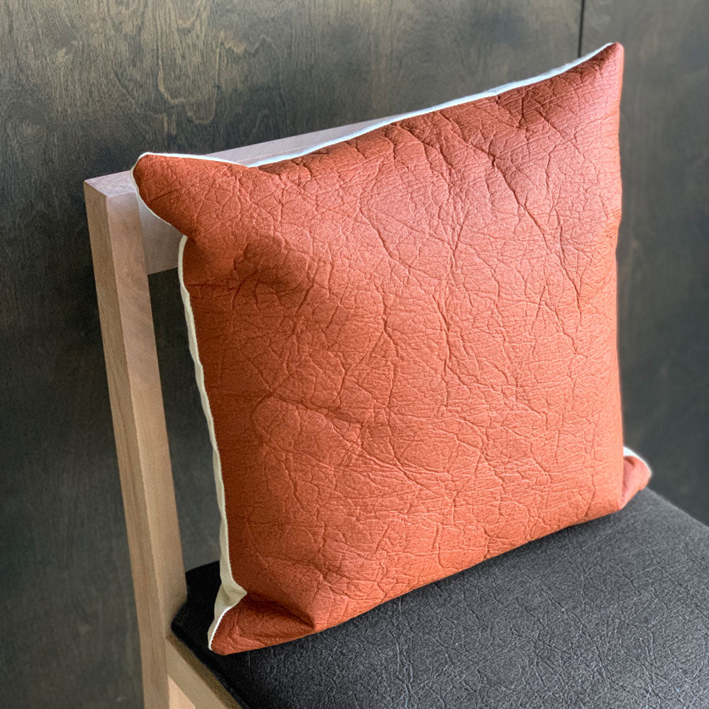 Canela Vegan Leather Pillow Cover