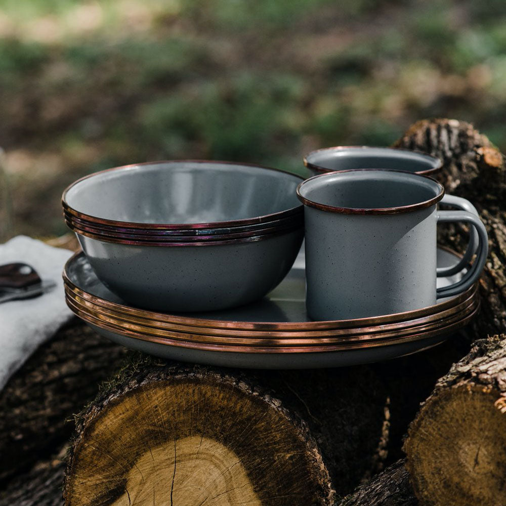 Outdoor Enamel Dinnerware Set