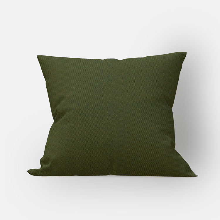 Olive Twill Pillow Cover