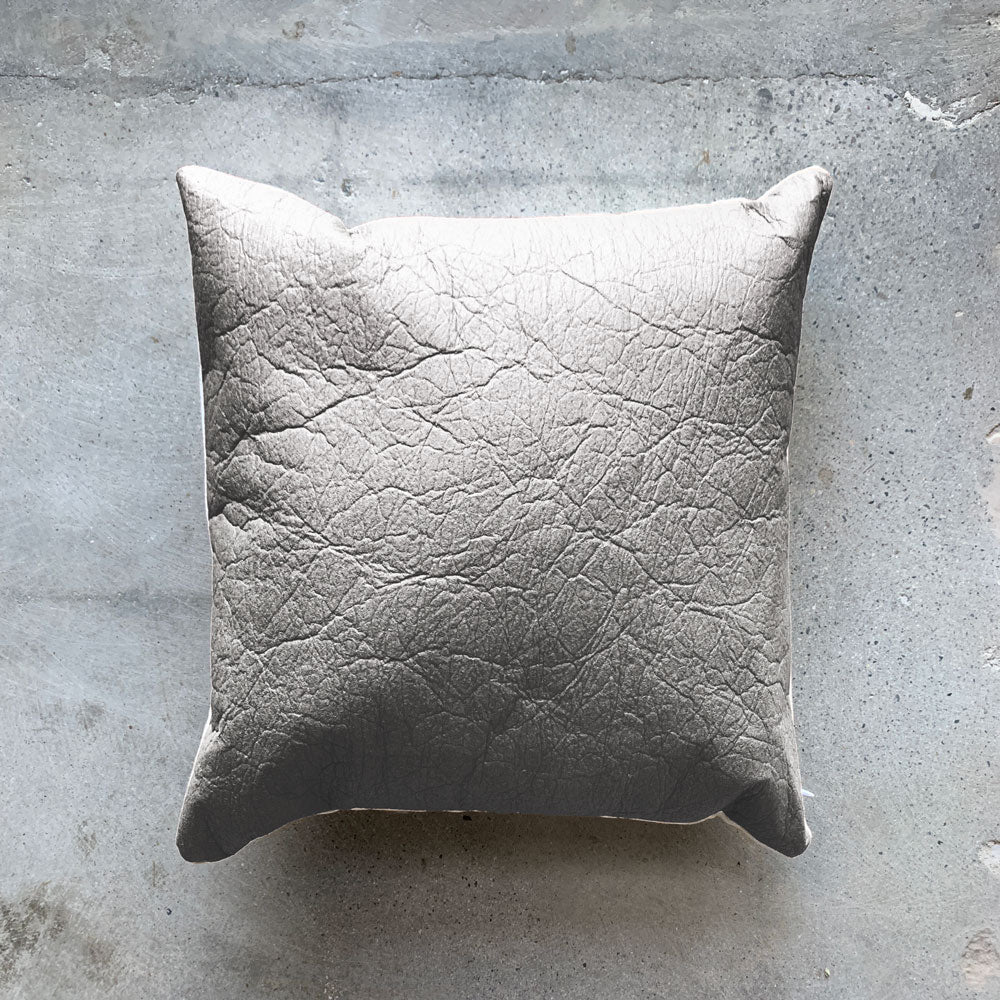 Plant based vegan leather pillow cover