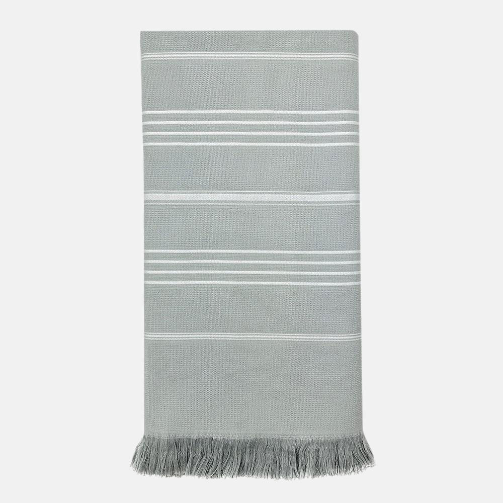 Gray Blue Turkish towel or Turkish throw