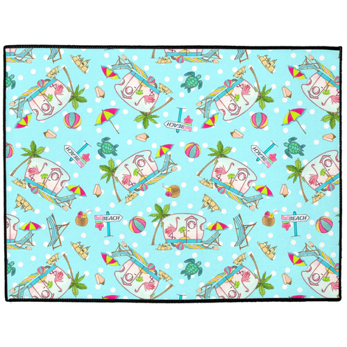 RV Happy Flamingo Beach Indoor/Outdoor Floor Mat
