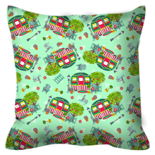 RV Happy Cute Cottage Outdoor Pillows