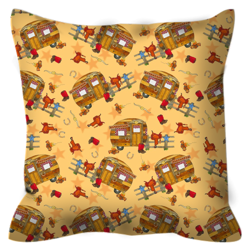 RV Happy Go Cowboy Outdoor Pillows