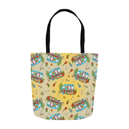 RV Happy Desert Heat Tote Bag