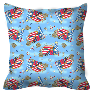 RV Happy Nautical Dockside Outdoor Pillows