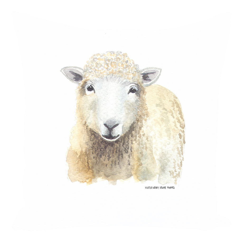 Summer Bay Farm Throw Pillows - Sherlock the Sheep