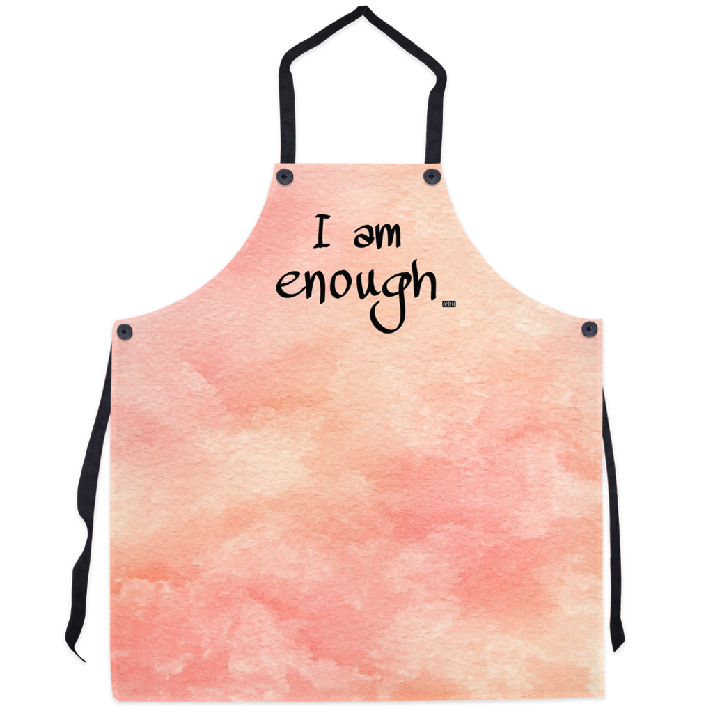 I AM ENOUGH Apron - Coral Watercolour