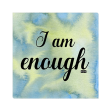 I AM ENOUGH Canvas Wall Art - Blue Lime