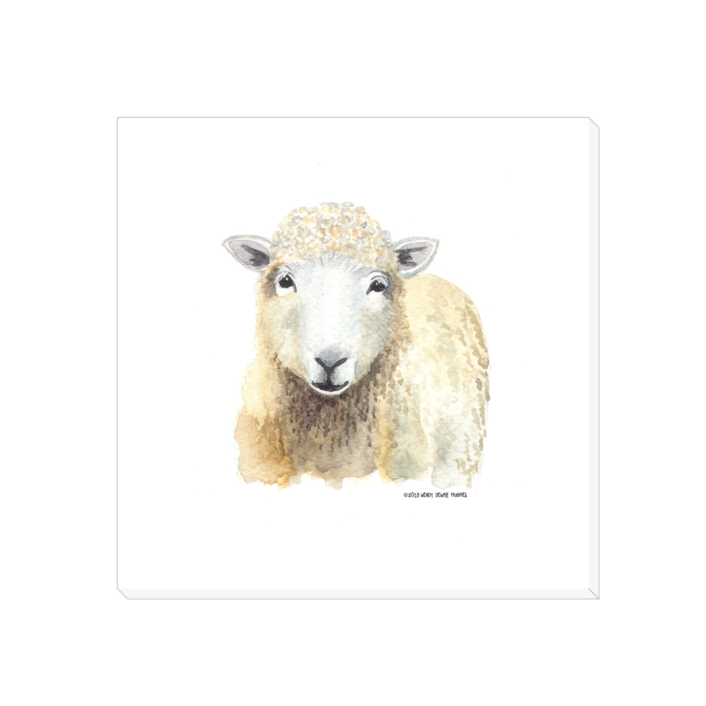 Summer Bay Farm Canvas Wall Art - Sherlock the Sheep