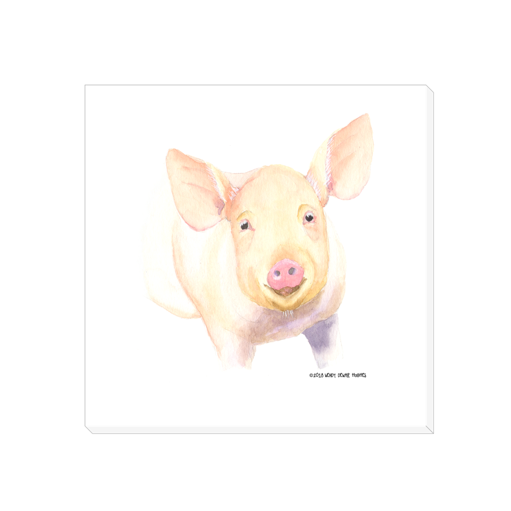 Summer Bay Farm Canvas Wall Art - Hamlet the Pig
