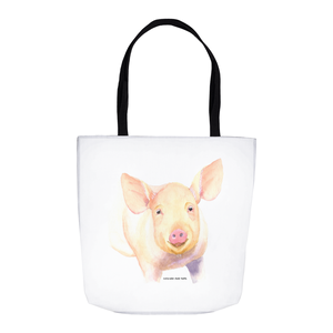 Summer Bay Farm Tote Bags - Hamlet the Pig