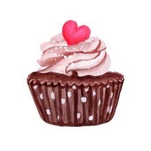 Hey Cupcake Chocolate Kiss - Kiss Cut Stickers