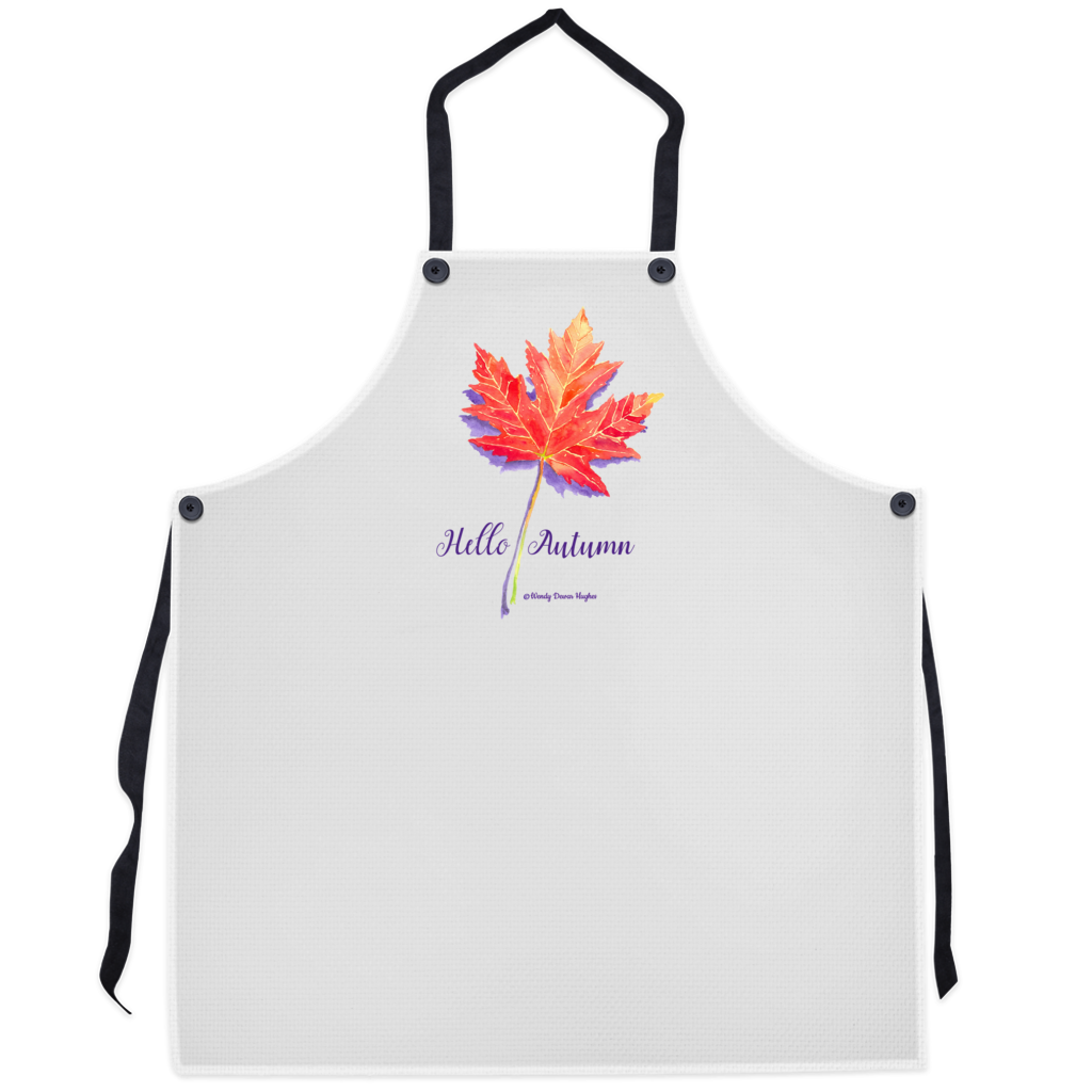 Hello Autumn Maple Leaf Apron