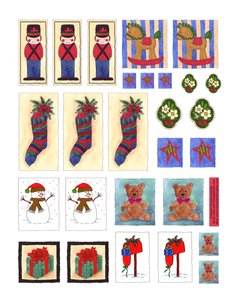 Jolly Christmas Printable Sticker Collection A