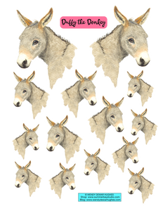 Duffy the Donkey Printable Stickers