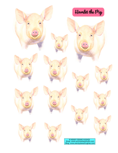 Summer Bay Farm - Hamlet the Pig Printable Stickers