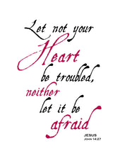 Let not your Heart be troubled - Bible Scripture Verse Printable Wall Art