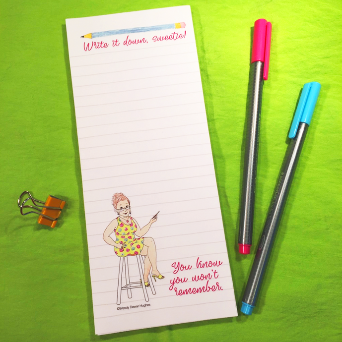 Write it Down, Sweetie! Printable DIY Note Pad