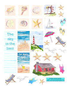 Sea Dreams Printable Stickers
