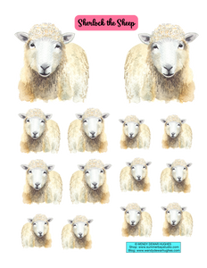 Sherlock the Sheep Printable Stickers