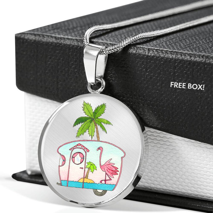 RV Happy Flamingo Beach Necklace
