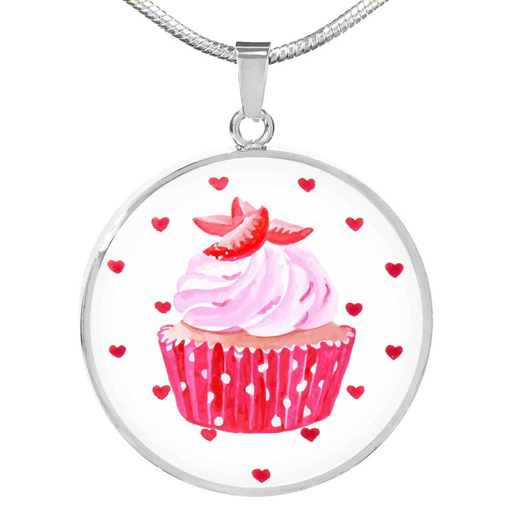 Hey Cupcake Strawberry Necklace