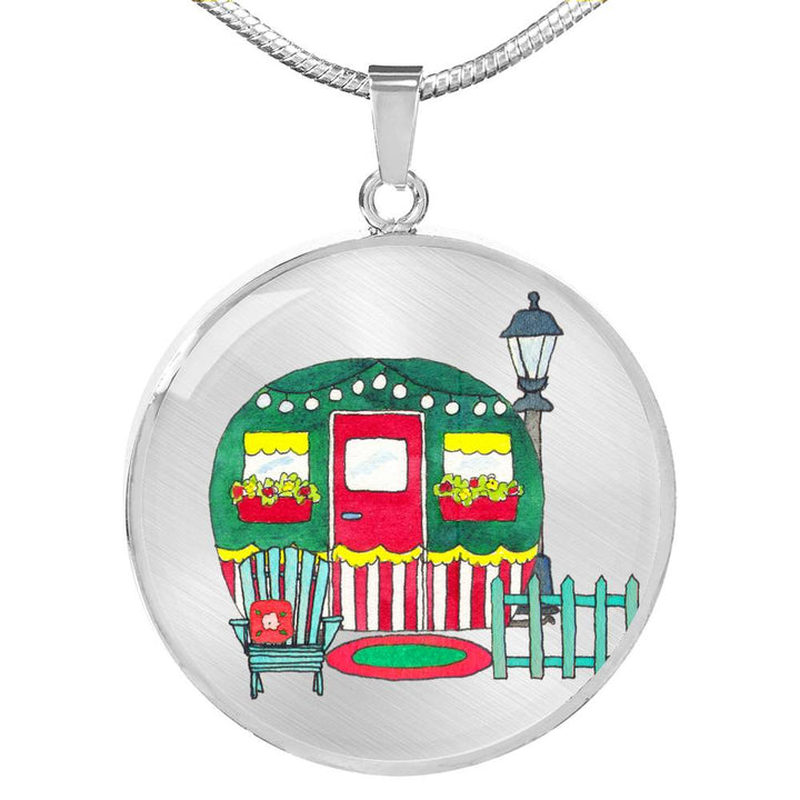 RV Happy Cute Cottage Necklace