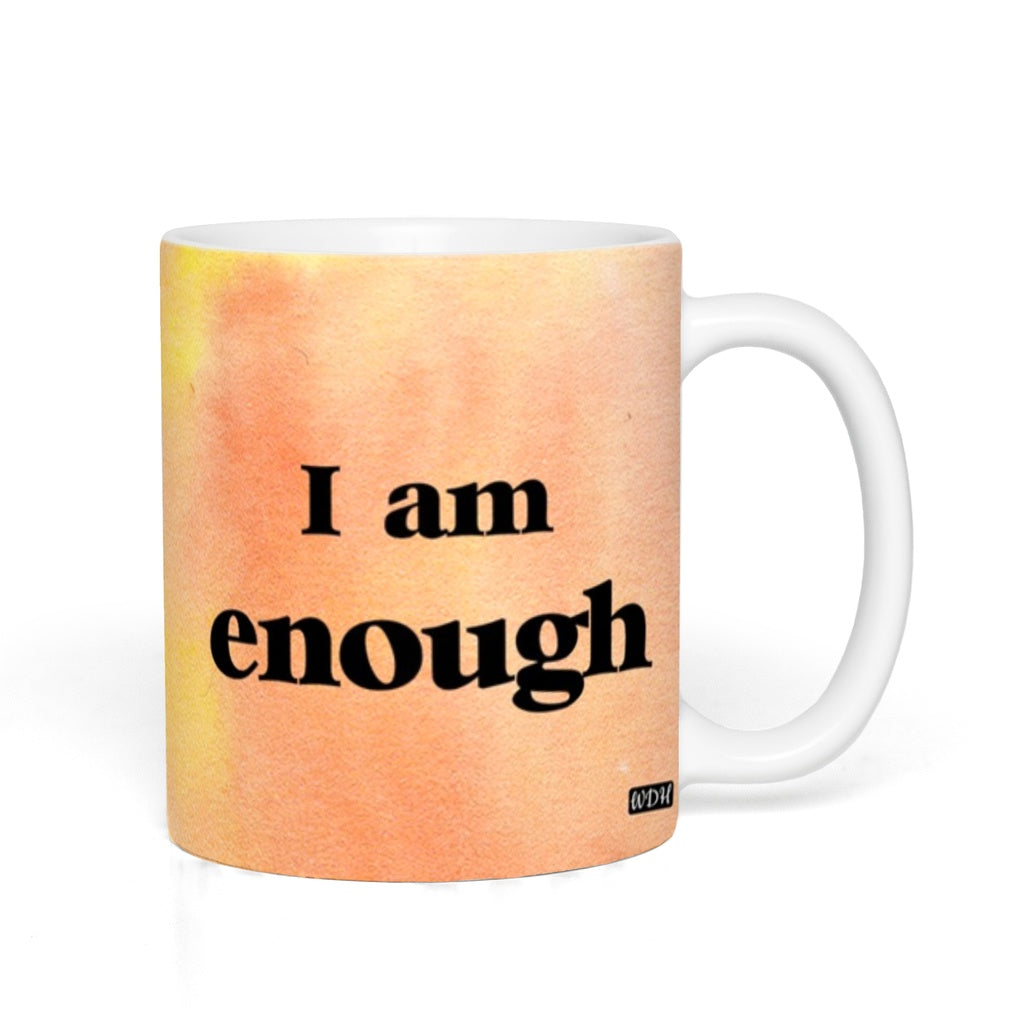 I AM ENOUGH - Tangerine Watercolour