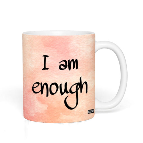 I AM ENOUGH - Peach Watercolour