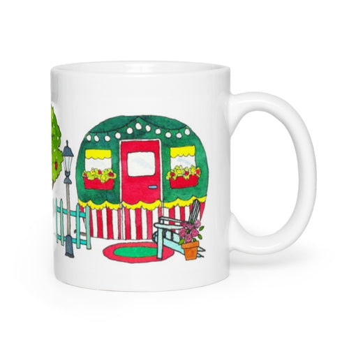 RV Happy Watercolour Mug - Cute Cottage