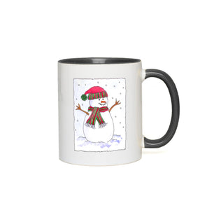 Jolly Christmas Snowman Accent Mugs
