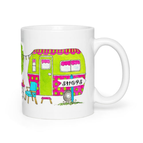 RV Happy Watercolour Mug - Glamping Up