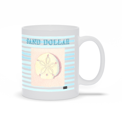 Sea Dreams Coffee Mug - Sand Dollar