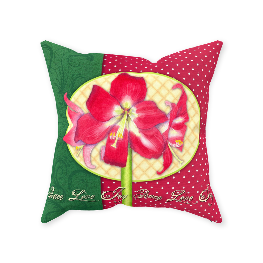 Florissima Throw Pillows - Amaryllis Joy