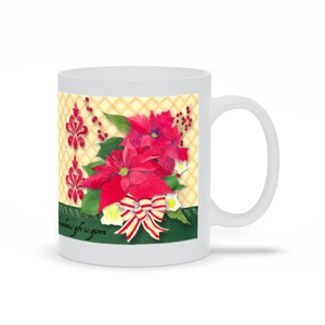 Florissima Coffee Mug - Poinsettia Bouquet