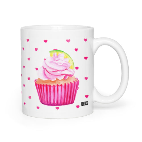 Hey Cupcake Pink Lime Coffee Mug