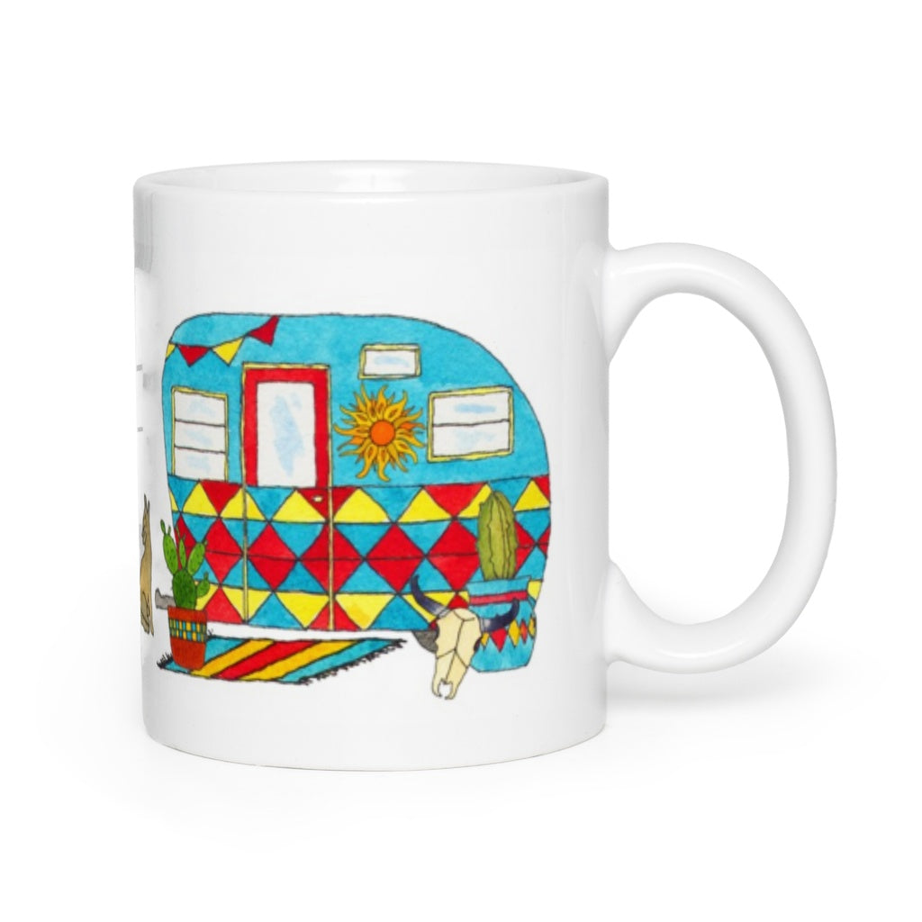 RV Happy Watercolour Mug - Desert Heat