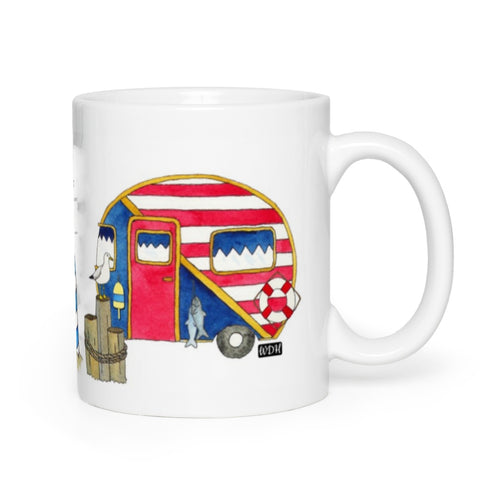 RV Happy Watercolour Mug - Nautical Dockside