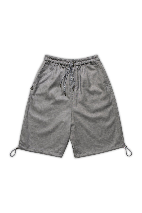Bermuda Shorts with Drawstring  - Cloud Gray