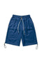 Bermuda Shorts with Drawstring  - Corn Blue