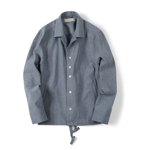 Shirter Drawstring Chambray Jacket