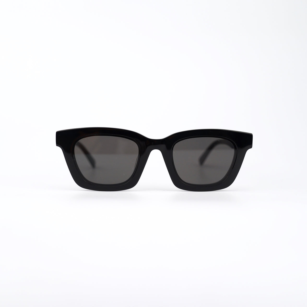 Black Acetate Sunglasses with Dark Gray Lenses