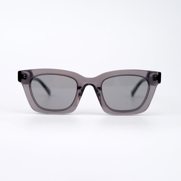 Clear Gray Acetate Sunglasses with Gray Lenses