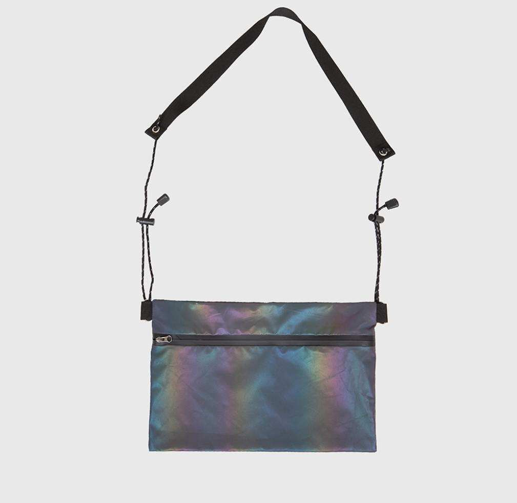 Unisex Rainbow Colored Reflective Sling Bag