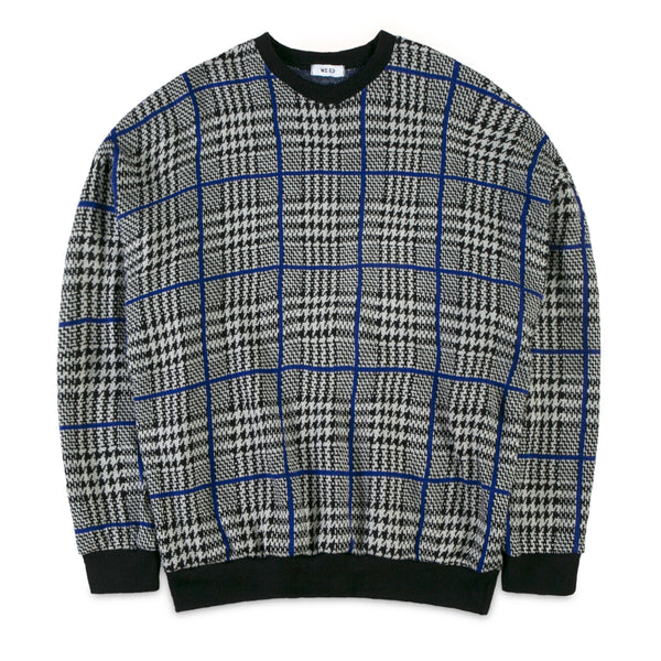 WE:ED Tartan with Blue Line Knitwear