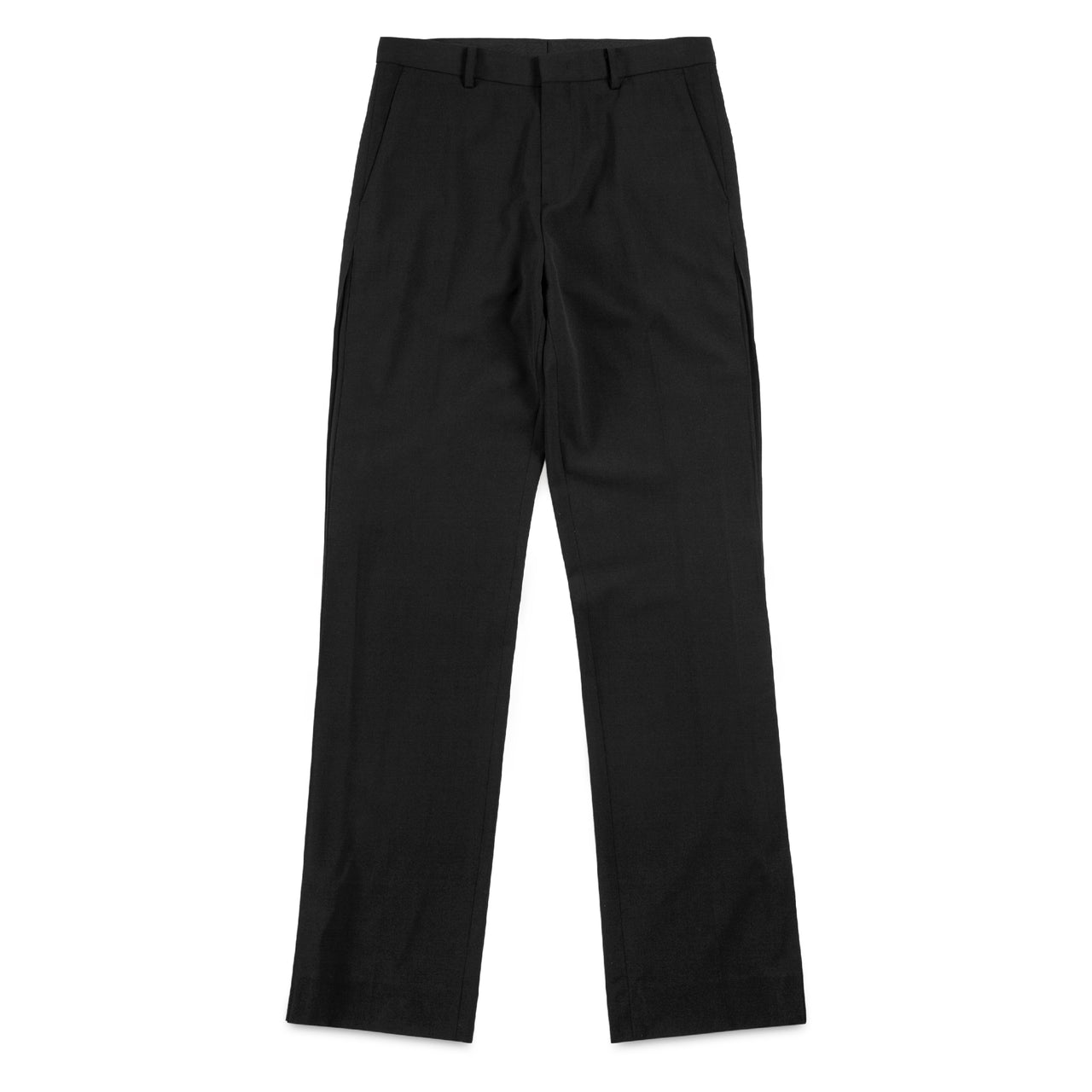 Navy Studio Black Pants with Double Pleated Details on Sides