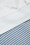 Navy Studio Double Layered White / Blue Stripe Shirt